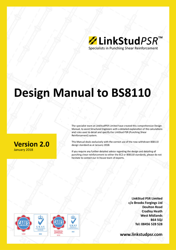 LinkStud PSR™ - Design Manual to BS8110 v2.0